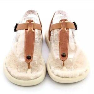 NWT Rosegold Ugg Sandals size 7
